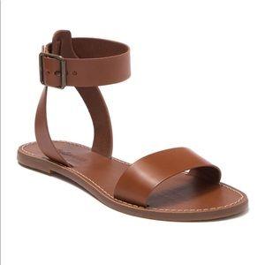 Madewell Boardwalk Leather Sandals English Saddle